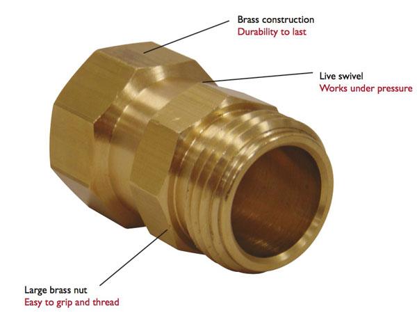 Brass Hose Swivel